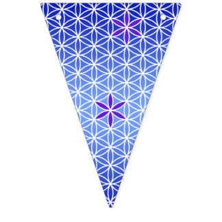 Flower Of Life - stamp seamless pattern - blue Bunting