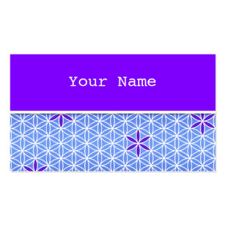 Flower Of Life - stamp seamless pattern - blue Business Cards