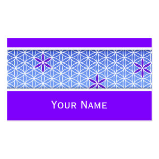 Flower Of Life - stamp seamless pattern - blue Business Card Template