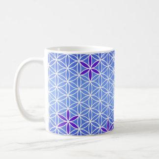 Flower Of Life - stamp seamless pattern - blue Mugs