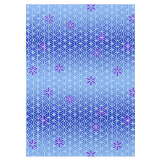Flower Of Life - stamp seamless pattern - blue Tablecloth