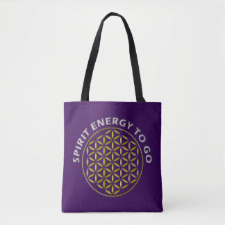 Flower Of Life - stamp - spirit energy to go Tote Bag