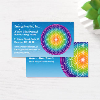Flower of Life Starry Sky Business Card