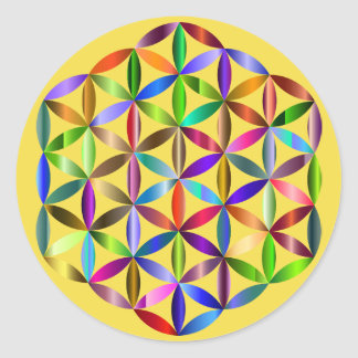 Flower of life sticker! classic round sticker