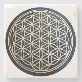 Flower of life stone coaster