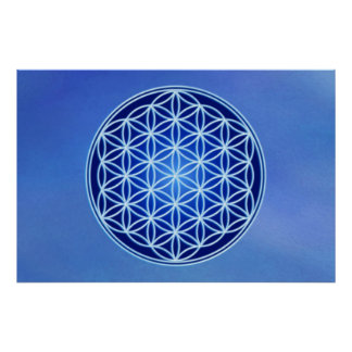 Flower of Life - Third Eye Chakra Poster