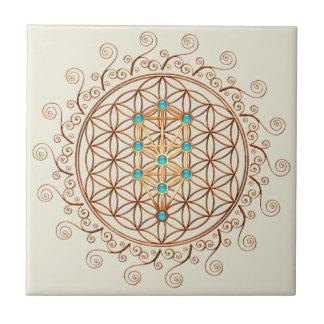 Flower of Life, Tree of Life, Kabbalah, Sephiroth Tile