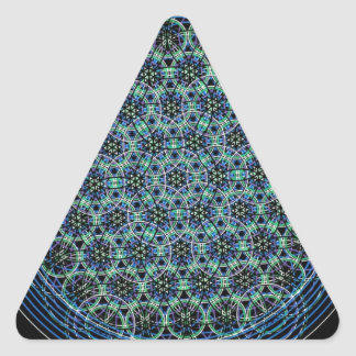Flower of Life Triangle Sticker