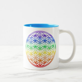 Flower of Life Two-Tone Mug