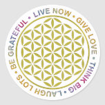 Flower Of Life with Rules Of Life Sticker