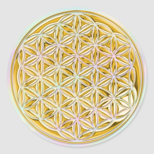 Flower Of Live / full gold | light coloured Sticker