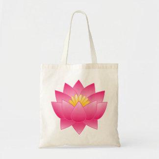 flower of lotus tote bag