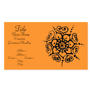 Flower Of Love (Henna) Business Card Templates