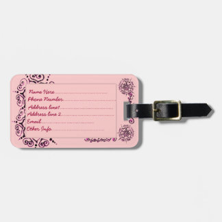 Flower Of Love (Henna) (Pink) Bag Tag