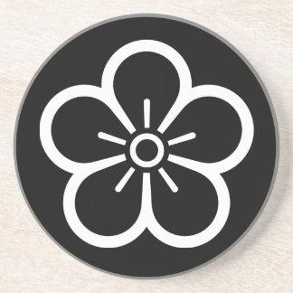 Flower of medium shade plum coaster