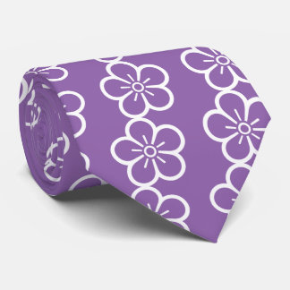 Flower of medium shade plum tie