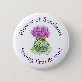Flower of Scotland 6 Cm Round Badge