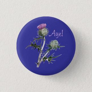 Flower of Scotland Scottish Independence Pinback 3 Cm Round Badge