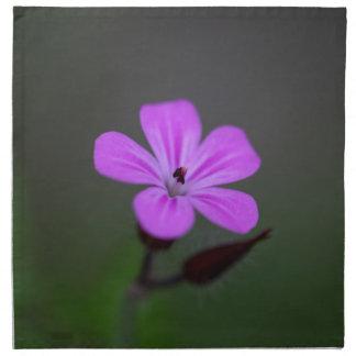Flower of the Herb-Robert, Geranium robertianum. Cloth Napkin