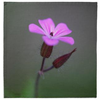 Flower of the Herb-Robert, Geranium robertianum. Printed Napkins