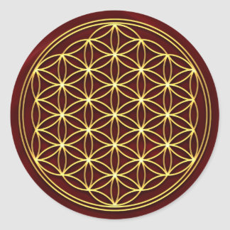 Flower of the life - Flower OF life - gold Sticker