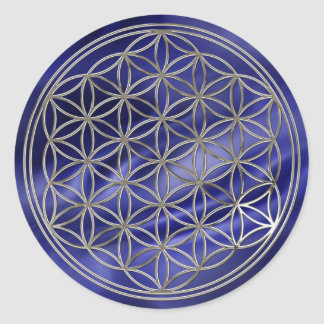 Flower of the life/Flower OF Life | more silver ro Round Stickers