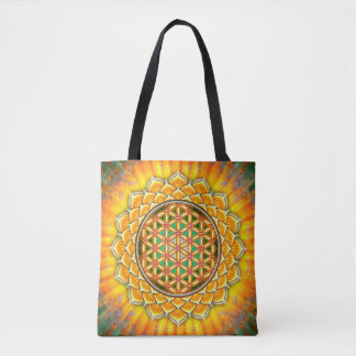 Flower of the life - yellow Lotos Tote Bag