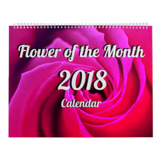 Flower of the Month 2018 Calendar