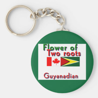Flower of two roots guyanese-canadian key ring