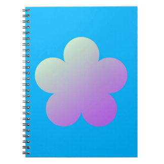 Flower on a blue background. notebook