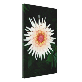 flower on a cool night canvas print