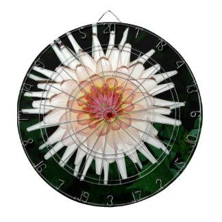 flower on a cool night dartboard