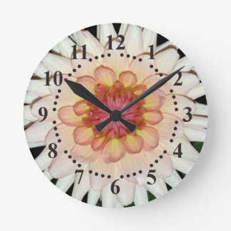 flower on a cool night round clock