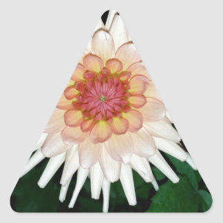 flower on a cool night triangle sticker