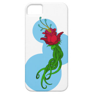 Flower on Blue Barely There iPhone 5 Case