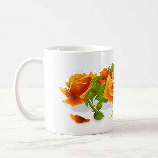 Flower  Orange Roses Mug
