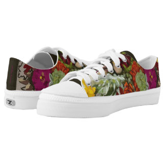 Flower Original Art Custom Zipz Low Top Shoe