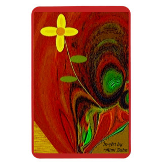 """""""Flower Out of Tree Stump"""" 4 x 6 Flexible Magnet"""