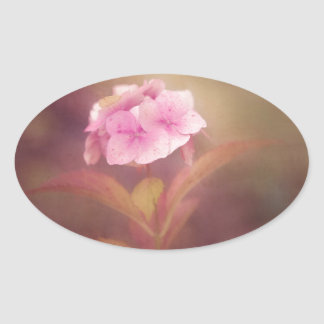 flower oval sticker