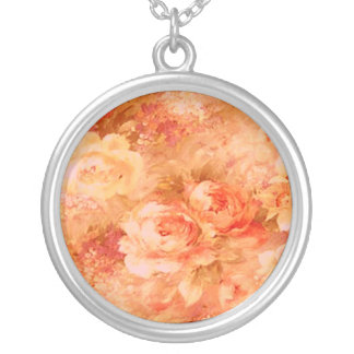 Flower Painting Necklace
