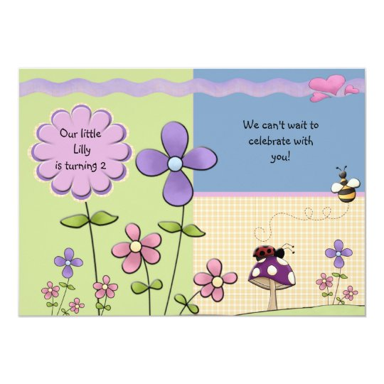 Flower Patch - Birthday Party Invitation