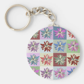 Flower Patchwork Key Chain