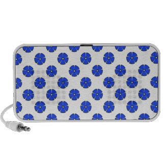 Flower Pattern 2 Blue Mp3 Speakers