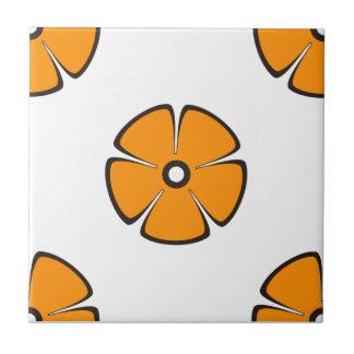 Flower Pattern 2 Orange Tiles