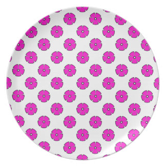 Flower Pattern 2 Pink Party Plates