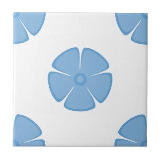 Flower Pattern 2 Placid Blue Tiles