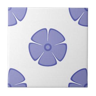 Flower Pattern 2 Violet Tulip Ceramic Tile