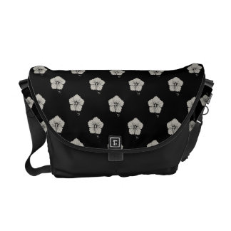 Flower Pattern 3 Aluminum Messenger Bags