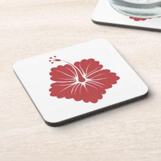 Flower Pattern 3 Aurora Red Drink Coasters