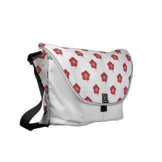 Flower Pattern 3 Aurora Red Courier Bags